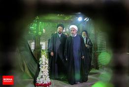 تجدید میثاق روحانی و هیات دولت با آرمان های امام راحل