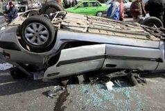 مصدوم شدن 8 نفر بر اثر واژگونی خودرو