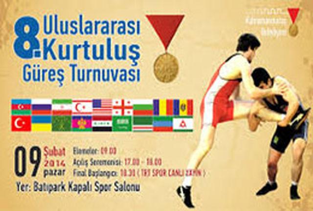 تیم کشتی آذربایجان غربی در راه مسابقات بین المللی ماراش ترکیه