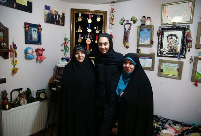 عیادت مشاور امور فرهنگی کمیته ملی المپیک از کیمیا علیزاده