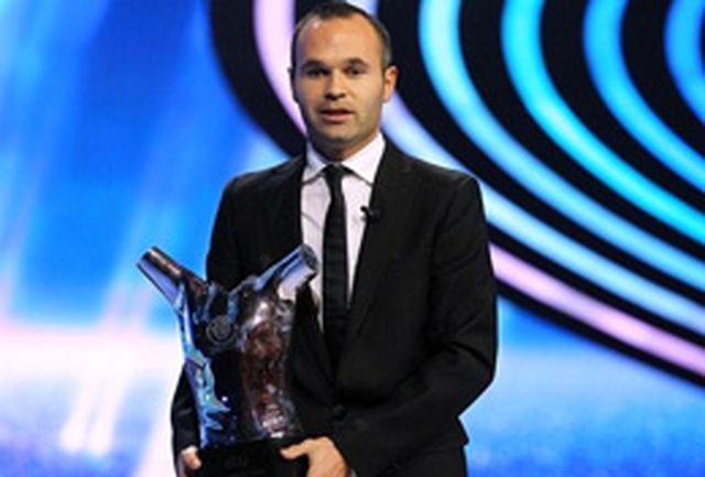 اینیستا بهترین بازیکن سال اروپا شد
