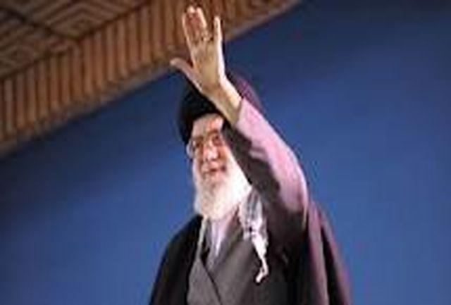 رهبر معظم انقلاب اسلامی وارد ورزشگاه تختی بجنورد شدند
