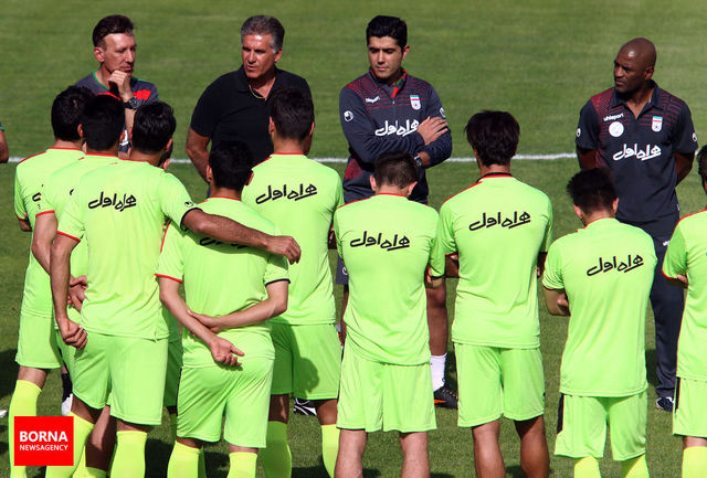 آخرین جلسه تیم ملی فوتبال ایران در تهران برگزار شد