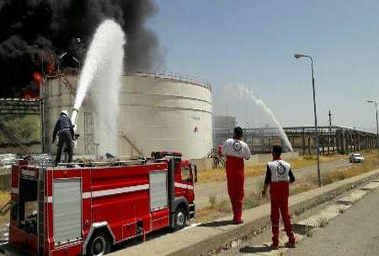 آتشسوزی در پتروشیمی ال ان بی کرمانشاه+فیلم/ آخرین وضعیت پتروشیمی بیستون/ظرف چند ساعت آینده، آتش سوزی پتروشیمی مهار شود