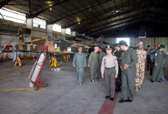 فرمانده کل ارتش از پایگاه هوایی شهید فکوری تبریز بازدید کرد