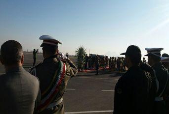 ورود پیکر دو شهید گمنام به فرودگاه ارومیه