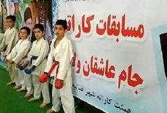 ولیعصر بیدستان بر سکوی نخست کاراته قهرمانی استان قزوین ایستاد