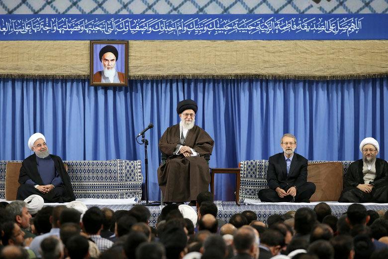 دیدار جمعی از مسئولان نظام و سفرای کشورهای اسلامی با رهبر معظم انقلاب