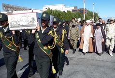 ورود پیکر مطهر 2 شهید گمنام دفاع مقدس به زاهدان