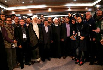 نشست خبری رئیس جمهور در قزوین