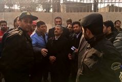 بازدید فرمانده کل سپاه از حادثه پلاسکو
