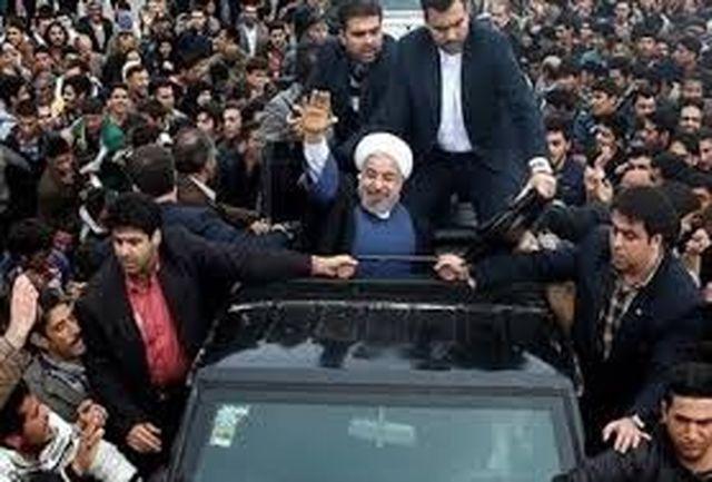 روحانی در استادیوم شهید بهشتی بوشهر حضوریافت