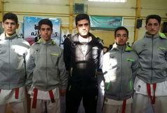 صدر نشینی تیم کاراته چای رفاه آستانه در لیگ جوانه های کشور