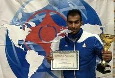 قهرمان لرستانی کارته آسیا پاداش مسابقات خود را به زلزله زدگان کرمانشاه تقدیم کرد