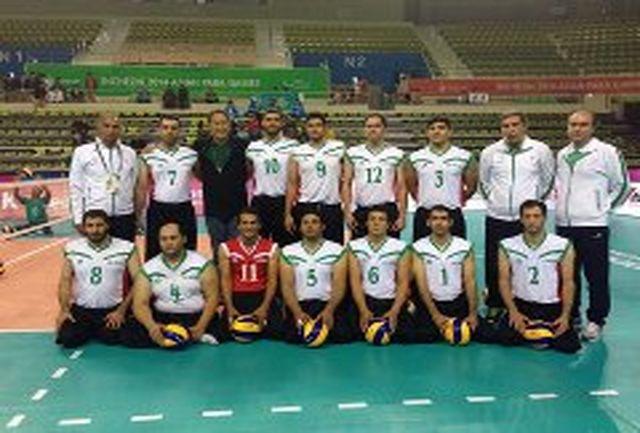 سومین پیروزی پیاپی والیبال نشسته ایران مقابل قزاقستان رقم خورد