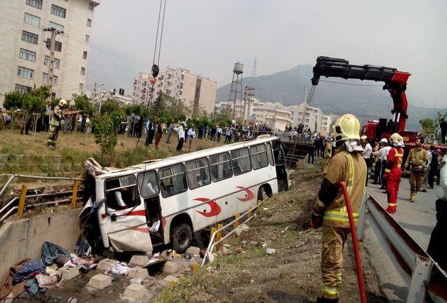 اسامی مصدومان حادثه واژگونی اتوبوس حامل دانشآموزان