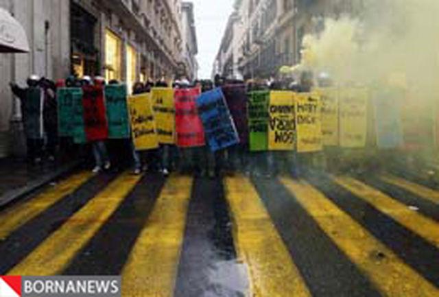 راهپیمایی دانشجویان معترض ایتالیایی به سمت پیزا