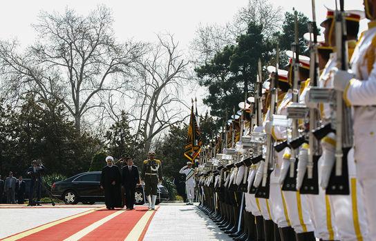 مراسم استقبال رسمی از رییس جمهوری ویتنام