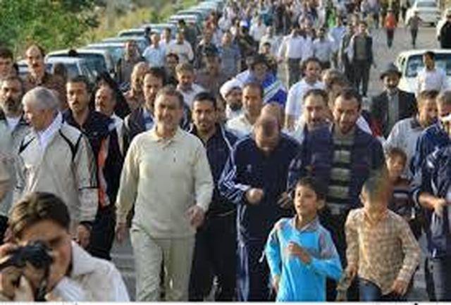 همایش پیاده روی بانوان ورزشکار در تربت حیدریه برگزار شد