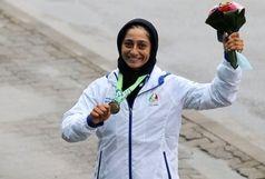 بانوی المپیکی قایقرانی مدالهایش را به استاد شجریان تقدیم کرد