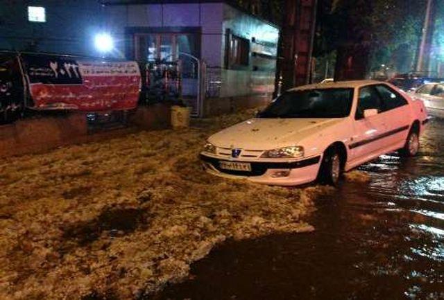 سیل در لرستان قربانی گرفت /سیلاب در خیابان شورای خرم آباد منجر به مرگ یک دختر دانشجو شد