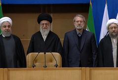 رهبر معظم انقلاب در کنفرانس بین المللی فلسطین حضور یافتند