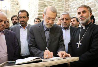 حضور رئیس مجلس در کلیسای ننه مریم  ارومیه