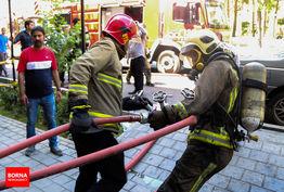 مهار آتش سوزی هتل آپارتمان آپادانا
