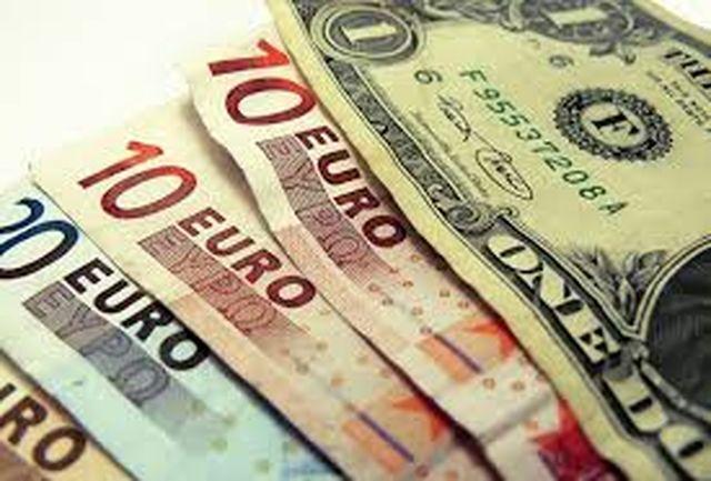 افزایش نرخ یورو و پوند؛ کاهش نرخ دلار