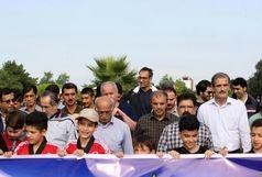 همایش پیاده روی ویژه آزادگان سرافراز در مشهد برگزار شد