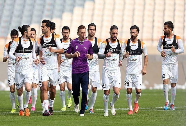 تمرین 100 دقیقه ای تیم ملی فوتبال در ایتالیا