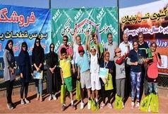 تنیسور قزوینی فاتح  تنیس زیر 10سال بانوان کشور