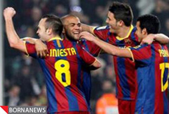 پیروزی پر گل بارسا در شب توقف رئالمادرید