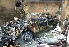 تعمیرگاه خودروهای سواری آتش گرفت