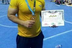 کسب مدال طلای پرس سینه قهرمانی کشور توسط ورزشکار چرداولی