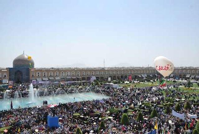 مردم اصفهان یکصدا فریاد انزجار از رژیم صهیونیستی سر دادند