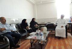 دیدار مدیر و کارکنان شبکه بهداشت پارسیان با امام جمعه اهل سنت شهرستان