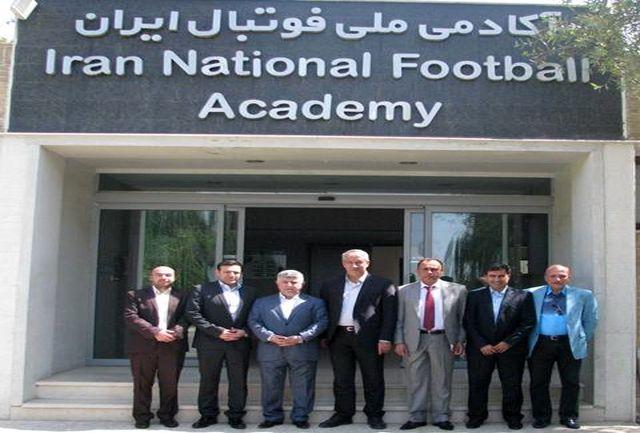 بازدید رئیس فدراسیون فوتبال عراق از امکانات آکادمی