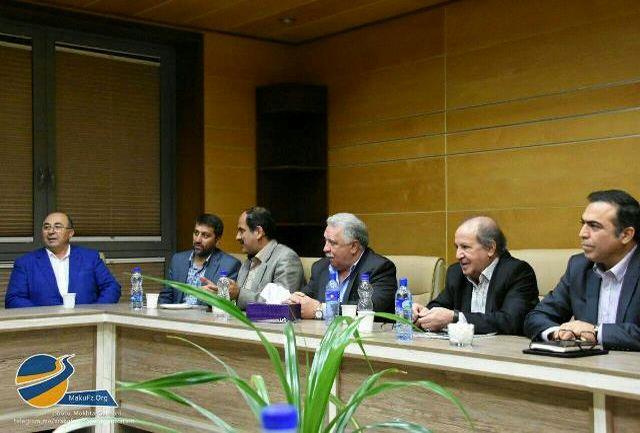 جلسه مشترک انجمن سرمایه گذاران کیش با مدیر عامل سازمان منطقه آزاد ماکو