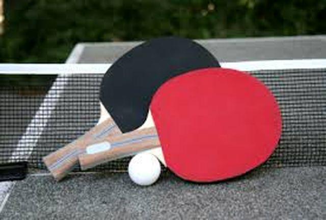 پایان مسابقات تنیس روز میز استان و معرفی نفرات برتر