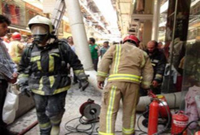 آتش سوزی فروشگاه پوشاک مهار و خاموش شد