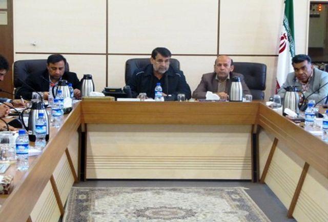 دیدار دانشور مدیرکل ورزش و جوانان استان با جادری استاندار هرمزگان