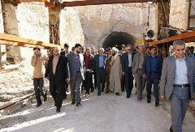 بازدید دکتر گودرزی از روند اجرایی تونل قلاجه شهرستان ایوان
