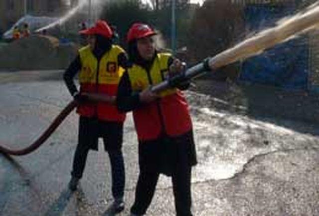 دوره آموزشی آتش نشانان داوطلب به پایان رسید