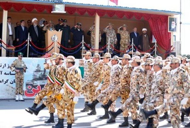 نیروهای مسلح در قزوین رژه رفتند