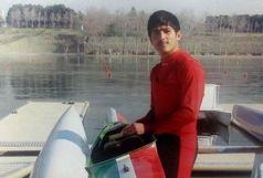 کسری اشرفی قایقران سنندجی در اردوی تیم ملی جوانان کشور حضور یافت