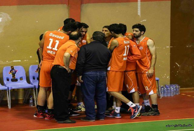 تیم بستکبال مس کرمان، شهرداری کاشان را شکست داد