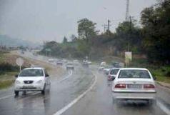 بارش پراکنده باران در محورهای استان های مازندران و گلستان