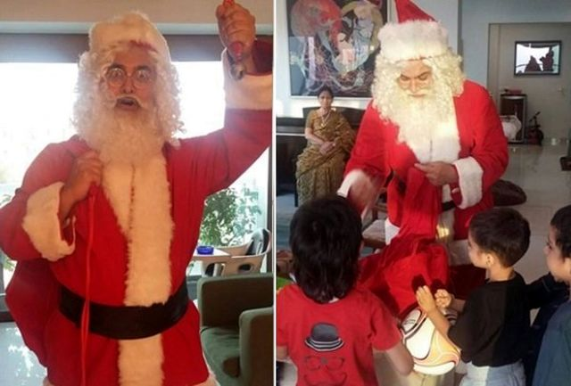 امیر خان در نقش بابا نوئل