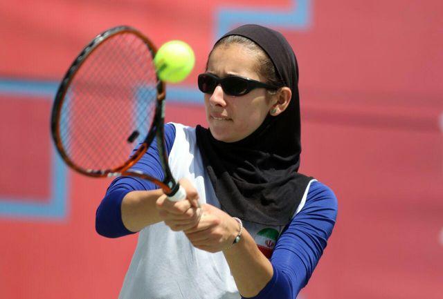 نماینده تنیس بانوان ایران از سد حریفش گذشت